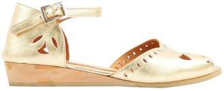 A.P.C. Gold Leather Flats