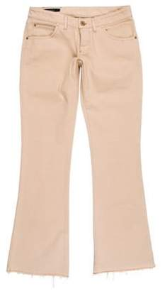 Gucci Low-Rise Wide-Leg Jeans Beige Low-Rise Wide-Leg Jeans
