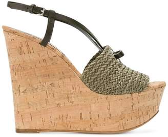 Casadei woven wedges