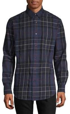 Haggar Regular-Fit Plaid Flannel Button-Down Shirt