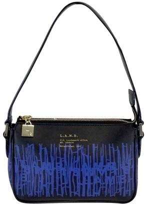 L.A.M.B. Black & Blue Print Leather Handbag $88.99 thestylecure.com