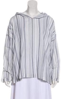 eskandar Striped Long Sleeve Top