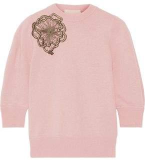 Roksanda Morena Appliquéd Wool Sweater