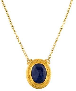 Gurhan 24K Sapphire Pendant Necklace