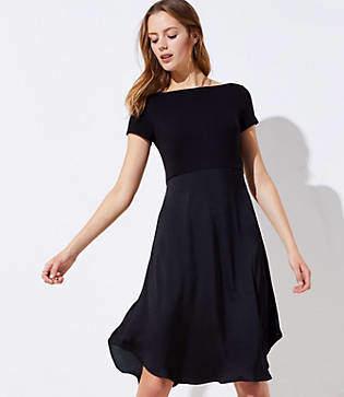 LOFT Petite Modern Mixed Media Dress