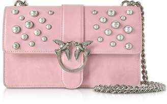 Pinko Love Leather Pearls Shoulder Bag