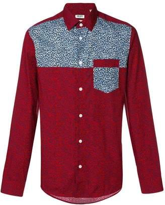 Kenzo leopard panel shirt