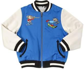 Stella McCartney Reversible Satin & Cotton Bomber Jacket