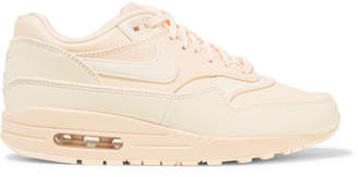 Nike Air Max 1 Reflective Logo-print Leather And Canvas Sneakers - Blush