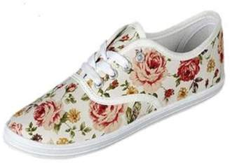 Refresh Floral Sneakers $17 thestylecure.com