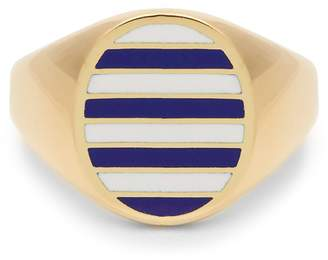 JESSICA BIALES Enamel & yellow-gold ring