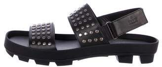Gucci Studded Leather Strap Sandals