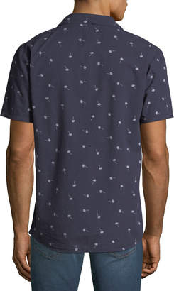 Civil Society Men's Printed Short-Sleeve Sport Shirt