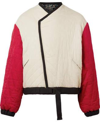 Etoile Isabel Marant Hanae Reversible Quilted Cotton Jacket - Ecru