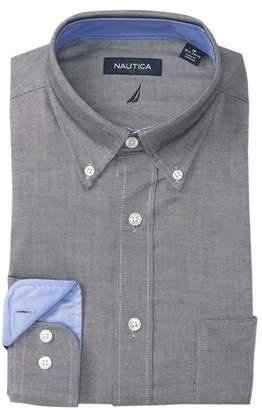 Nautica Textured Classic Fit Dress Shirt