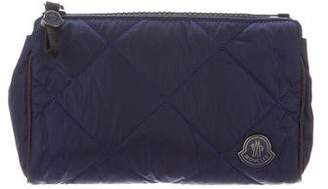 Moncler Leather-Trimmed Quilted Pochette w/ Tags