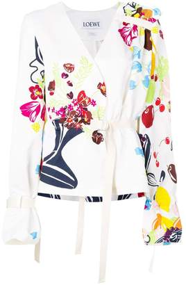 Loewe floral belted blouse