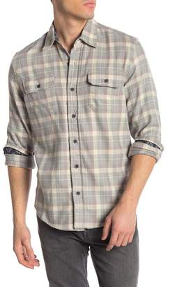 Tailor Vintage Plaid Print Perform Stretch Fit Flannel Shirt