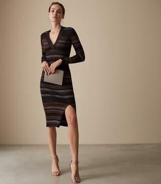 Reiss Sassy Metallic Knitted Dress