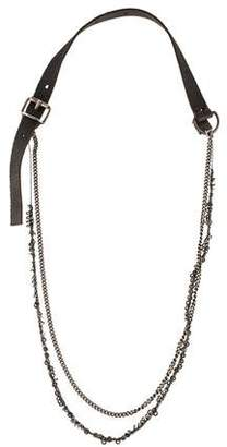 Goti Leather Double Strand Necklace