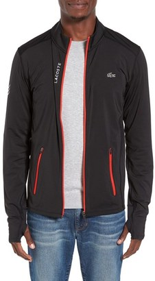 Lacoste Perf Zip Jersey Track Jacket $145 thestylecure.com