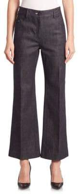Calvin Klein Collection Wide-Legged Cropped Jeans