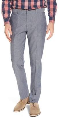 J.Crew J. CREW Ludlow Trim Fit Cotton & Linen Suit Pants