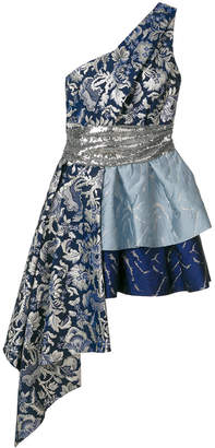 Christian Pellizzari asymmetric one shoulder dress