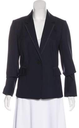 Tory Burch Button-Up Notch-Lapel Blazer