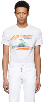 DSQUARED2 White Summer Chic Dan T-Shirt