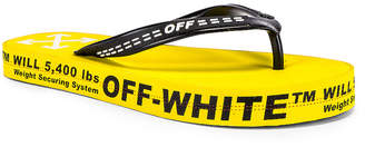 Off-White Off White Flip Flop in Yellow | FWRD