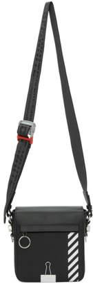 Off-White Black Diag Binder Clip Bag