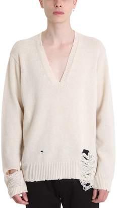 Maison Margiela Beige Wool Sweater