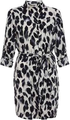 aa0ae0e5aad3 Black And White Animal Print Shirt Dress – Little Black Dress ...