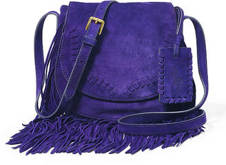 Polo Ralph Lauren Fringed Suede Cross-Body Bag $298 thestylecure.com