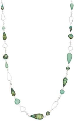 Dana Buchman Green Teardrop Link Long Necklace