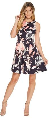 Vince Camuto Sleeveless Fit and Flare Dress with Pleated Skirt Women's Dress