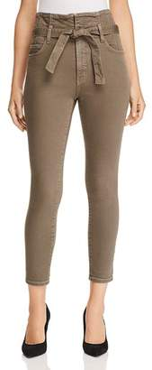 Current/Elliott Corset Stiletto Cropped Skinny Jeans in Rural Green - 100% Exclusive