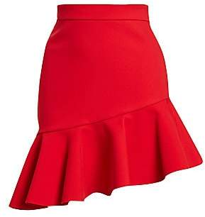 MSGM Women's Asymmetric Ruffle Mini Skirt