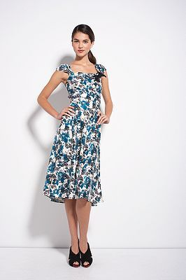 Madame See Dress in Interlacing Willow Small