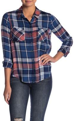 Lucky Brand Boyfriend Button Down Plaid Shirt