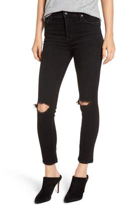 Citizens of Humanity Rocket High Waist Ripped Ankle Skinny Jeans