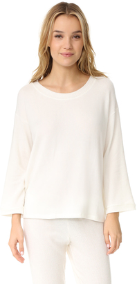 Eberjey Sweater Weather Long Sleeve Tee $97 thestylecure.com