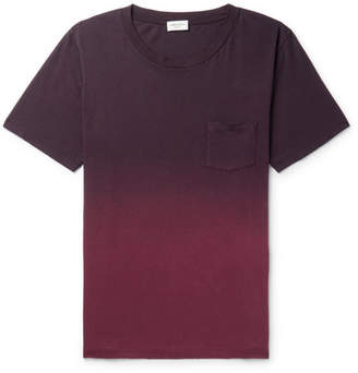Saint Laurent Distressed Dégradé Cotton-Jersey T-Shirt
