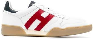 Hogan contrast side logo sneakers