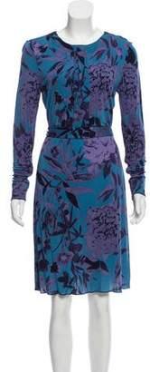 Tory Burch Floral Print A-Line Dress