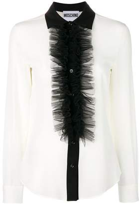 Moschino ruffled silk blouse