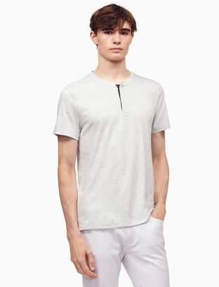 Calvin Klein slim fit piped henley shirt
