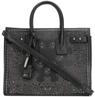 Saint Laurent paisley studded tote bag
