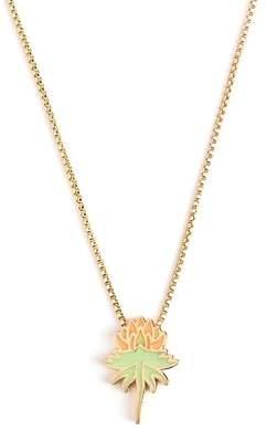 Alex and Ani Orange Uriel Flower Pendant Necklace